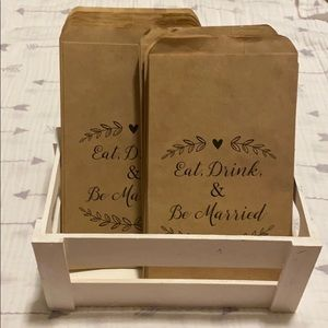 ✨ Eat Drink & Be Married Treat Bags w/ Crate